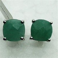 Sterling Silver Emerald (May Birthstone)(3.7cts)