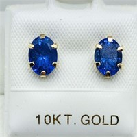 10KYellow Gold Tanzanite(1.6cts)  Earrings, Made