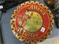 Allen's Toffee tin 10 inches diameter