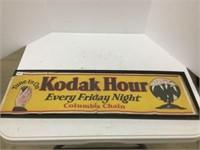 "Kodak framed paper advertisement 29"" x 9"""