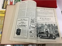 Assorted antique books and extra-large Texaco