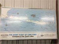 "The ghost fleet of Long point picture 21"" x 38"""