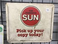 "The Toronto sun steel sign 14"" x 12"""