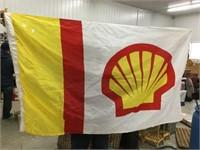 """Shell gasoline flag 35"""" x 53"""""""