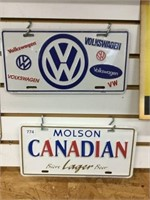 Two license plates