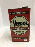 Veedol 1 gallon oil can