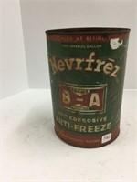 B – A never freeze anti-freeze 1 gallon can