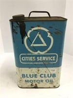 Cities service to gallon oil can