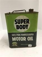 Super body 6 quart motor oil can