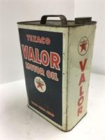 Texaco Valor oil can