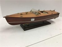 Wooden model boat 20 inches long