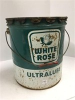 White rose ultra lube 35 pound grease pale
