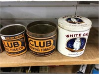 Eight assorted tobacco tins