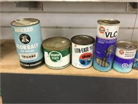 10 assorted oil cans