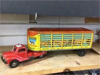 Tin livestock truck