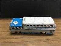 Greyhound tin toy bus