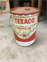 Texaco 5 gallon can