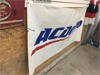 """AC Delco plastic banner 70"""" x 38"""""""