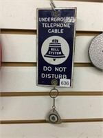 """Bell telephone porcelain sign, 4"""" x 7"""""""