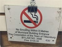 """No smoking aluminum sign 8"""" x 6"""""""