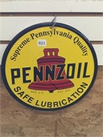 Pennzoil reproduction sign 12 inch diameter