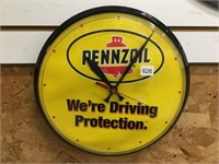 Pennzoil battery operated plastic clock