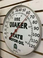 Quaker state motor oil thermometer, no glass