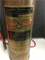 Brass fire extinguisher 16 inches high