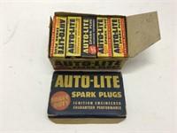 Box of auto – lite spark plugs