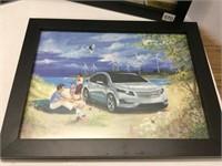 "4 Peter Robson automotive prints 13 1/2"" x 11"""