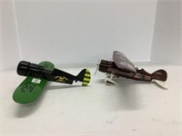 Two die cast airplanes some damage