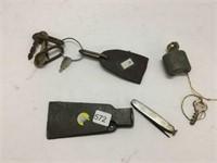 Early axe head, lock, keys etc.