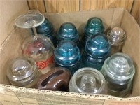 Box of assorted insulators