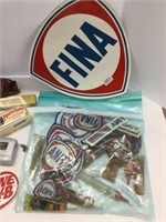 Group of assorted Fina patches, decals etc.