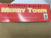 Merry town mechanical wind up toy