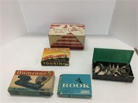 Group of early games napkin rings etc.