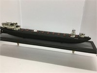 Wooden model boat 25 inches