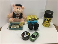 Group of assorted toys