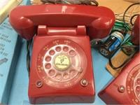 Vintage toy telephones