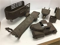 Group of early pressed steel toys