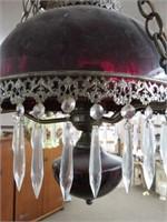 Cranberry hanging lamp