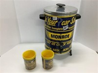 Munro decaled coffee maker and mugs