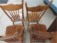 4 old man wind pressed back chairs