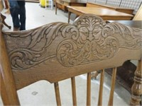 Old man wind pressed back rocking chair