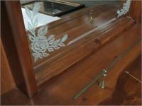 Pine dresser with mirror