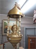 Lighted oil filled lamp