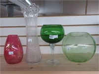 Group of vases & bowls
