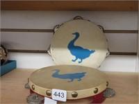 2 child's tambourines
