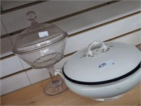 2 covered dishes