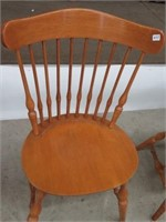 Pair of maple kitchen chairs